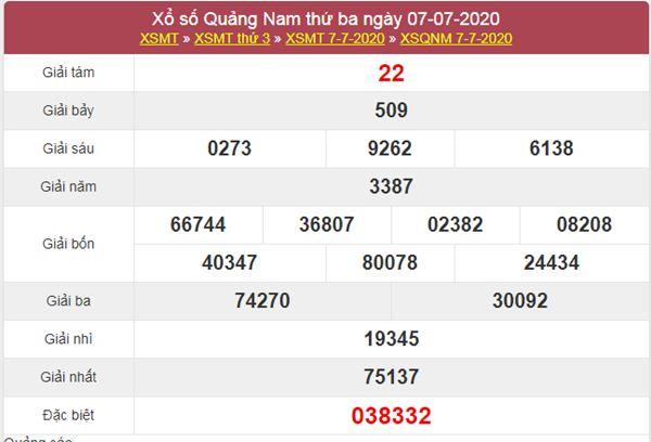 Dự đoán XSQNM 14/7/2020 chốt KQXS Quảng Nam thứ 3