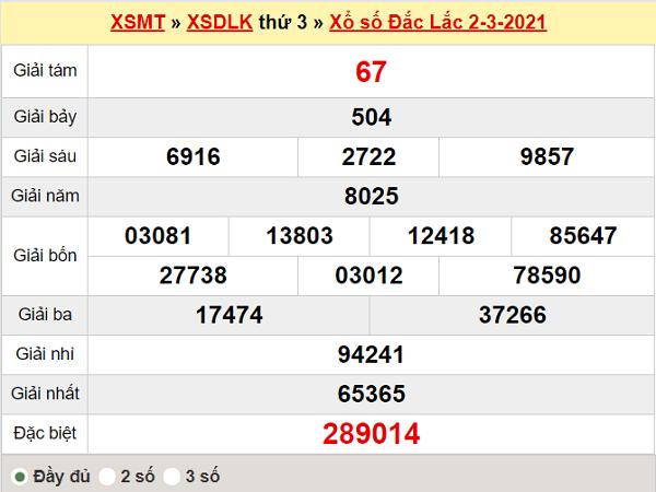 Dự đoán XSDLK ngày 9/3/2021