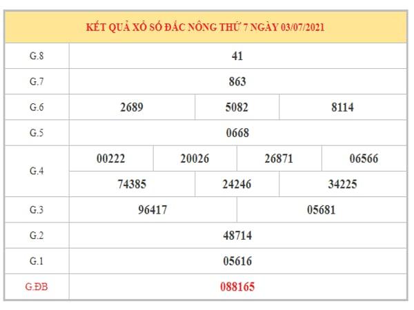 Dự đoán XSDNO ngày 10/7/2021 dựa trên kết quả kì trước